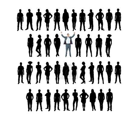 Photo pour Silhouettes de gens d'affaires, concept unique . - image libre de droit