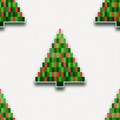 Seamless pattern with paper Christmas trees