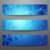 Vector web banners One two three Presentation slide template Abstract background Business background Technology background Business card Glowing background Blue background