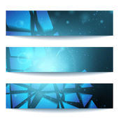 Vector web banners One two three Presentation slide template Abstract background Business background Technology background Business card Technology abstract Glowing background