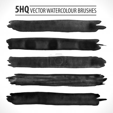 Set of watercolor brushes