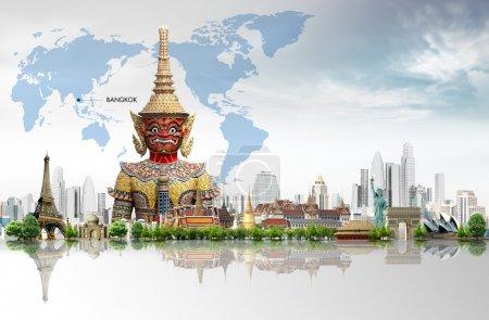 Photo pour Fond pour voyager dans le monde. concept - image libre de droit