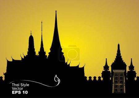 Photo pour Illustration vectorielle du palais royal de Bangkok - image libre de droit