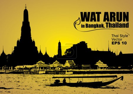 Photo pour Vecteur, Wat Arun en bangagara thailand - image libre de droit