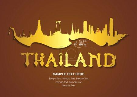 Photo pour Thaïlande design de voyage, illustration vectorielle - image libre de droit