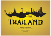 Thailand travel design vector illustration