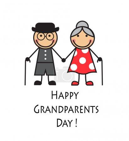 Glücklicher Großelterntag