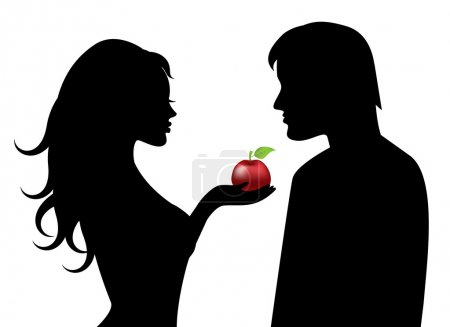 Adam and Eve and the forbidden fruit