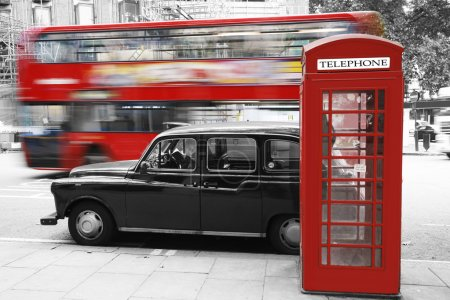 London Phone Booth and Taxi