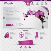 Website template for flower shop and webshop the worn rubbed effects are on different layers eps10 contains transparencies for a high realistic effect