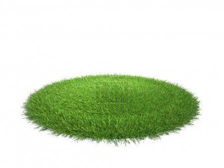 Photo for A round piece of cropped grass to be installed - Royalty Free Image