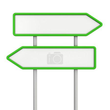 Photo pour Signes de flèche verte vierges - image libre de droit