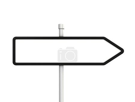 Photo pour Signes flèches vierges isolés sur fond blanc - image libre de droit