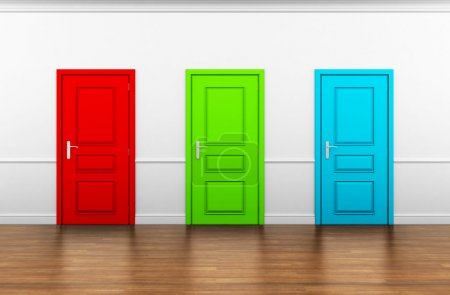Photo for Beautiful room with three doors - Royalty Free Image