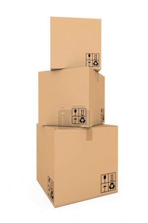 Photo for Cardboard boxes - Royalty Free Image