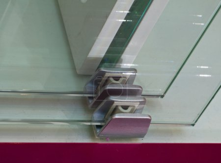 Details door mechanisms and glass furniture