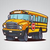 Cartoon school bus isolated