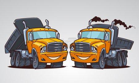 Cartoon truck tipper