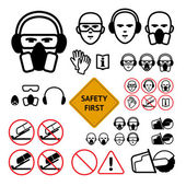 Safety signs for abrasive wheel on the angle grinder