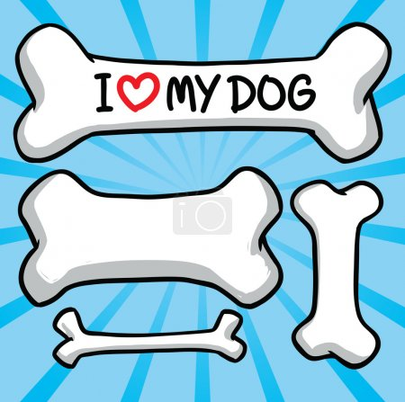 I love my dog. sign on the bone.