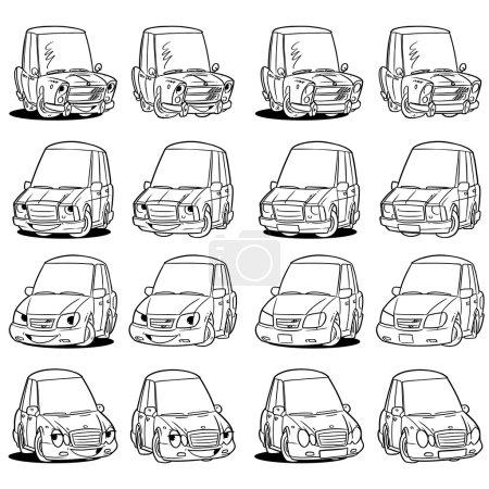 Cars contour