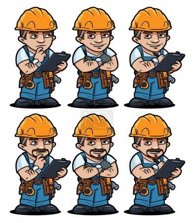 Illustration for Worker set - Royalty Free Image