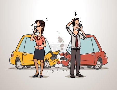 Drivers calling insurance