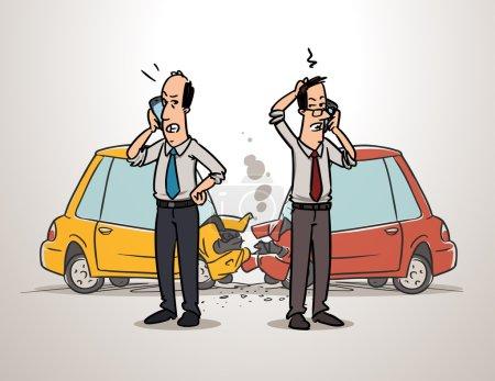 Men calling insurance