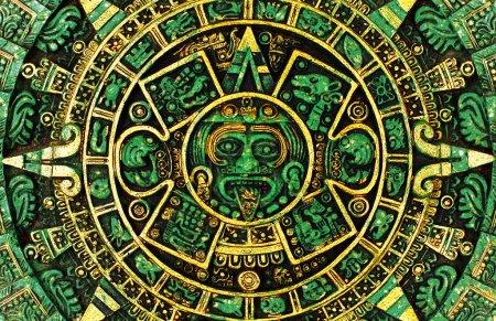 Photo pour Le calendrier maya vert prédire l'apocalypse sur l'année 2012 - image libre de droit