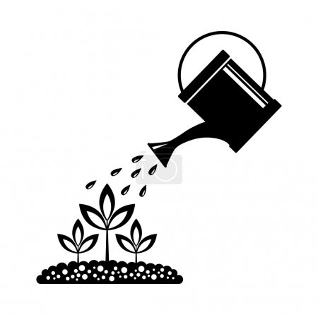 Illustration for Watering can - Royalty Free Image