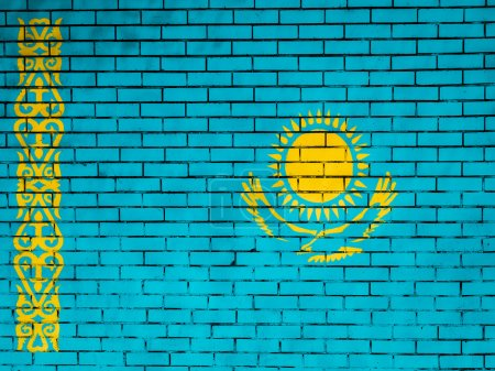 The Kazakh flag