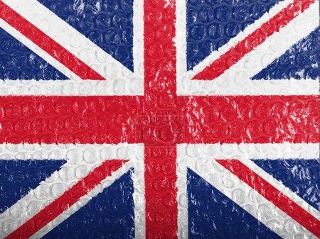 Photo pour La Grande-Bretagne. drapeau britannique peint sur bubblewrap - image libre de droit