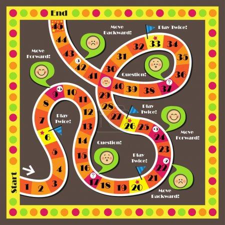 Illustration for Illustration of board game for children - Royalty Free Image