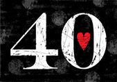 Vintage Number 40  Grunge effects