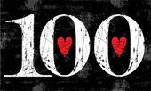 Vintage Number 100  Grunge effects