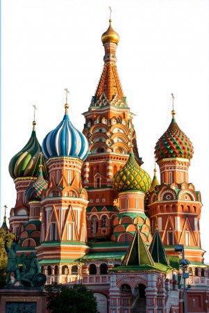 Cathédrale Saint-Basile, Moscou, isolé sur blanc
