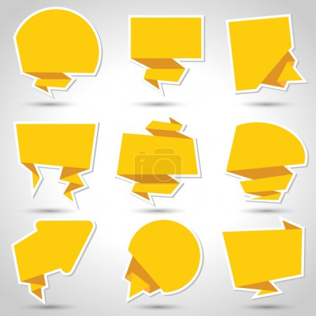Illustration for Abstract origami speech bubble vector background. Eps 10 - Royalty Free Image