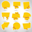Abstract origami speech bubble vector background. ...