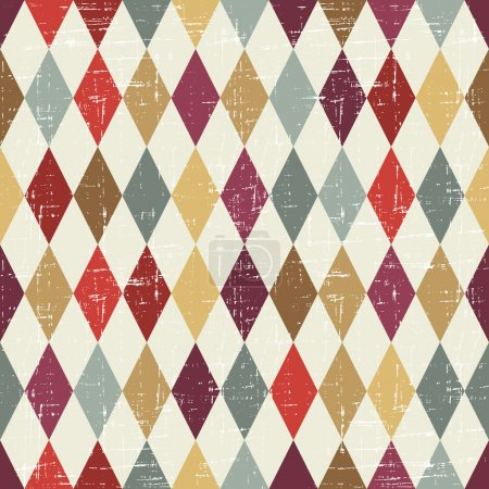 Illustration for Seamless abstract retro pattern. Stylish geometric background. - Royalty Free Image