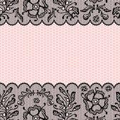 Vintage lace frame ornamental flowers Vector texture