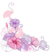 Stylish abstract floral background Design of vector flowers