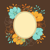 Vector background with hand drawn stylish flowers