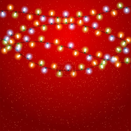 Eps 10 Christmas background with luminous garland.