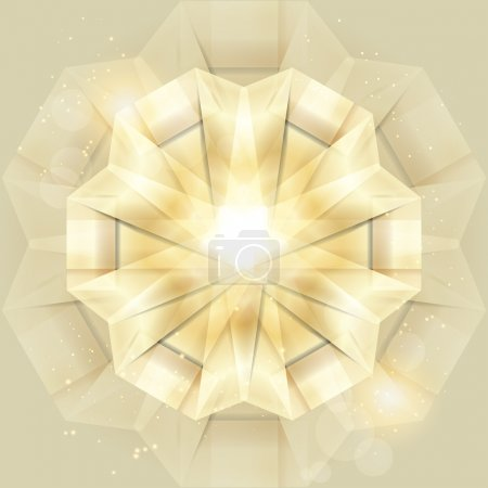 Illustration for Abstract gold shiny background. Vector creative illustration. - Royalty Free Image