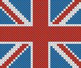 Great Britain flag background made with embroidery cross-stitch