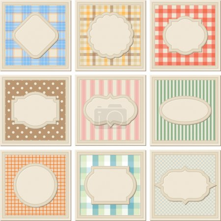 Illustration for Vintage patterned card templates set. - Royalty Free Image