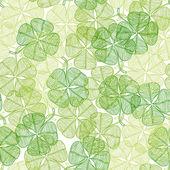 Bezešvé pattern s abstraktní jetel listy