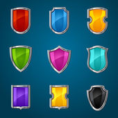 Set of shield icons symbols and signs