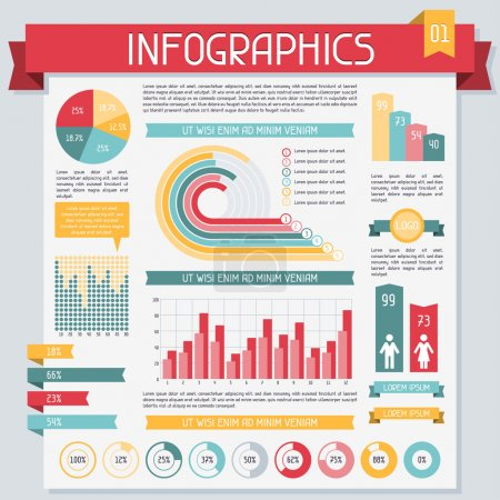 Infographics elements collection. Set 1.
