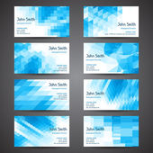 Business cards set with abstract geometric background